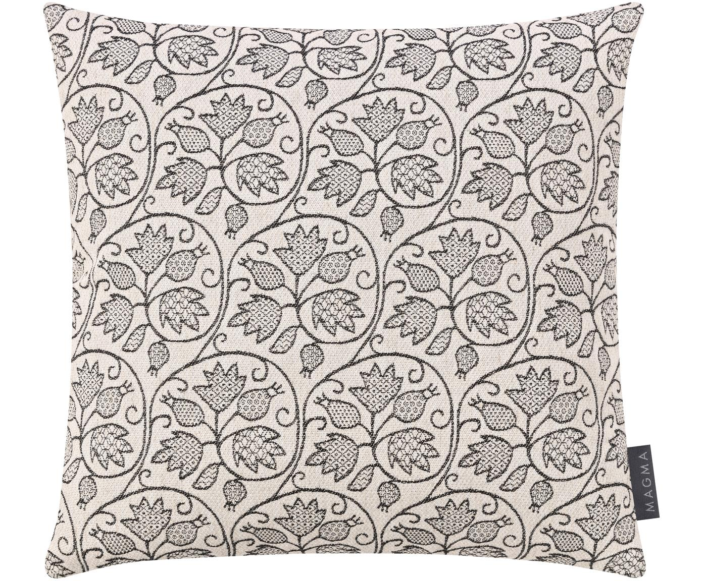 Poszewka na poduszkę Ariana, Czarny, jasnobeżowy, S 40 x D 40 cm