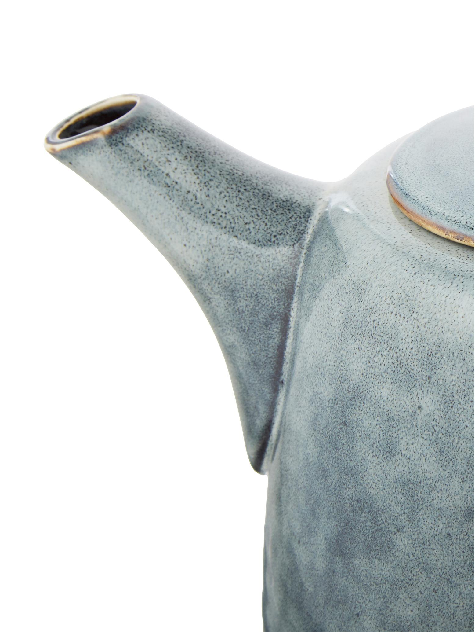 Théière faite main Nordic Sea, Tons gris et bleus