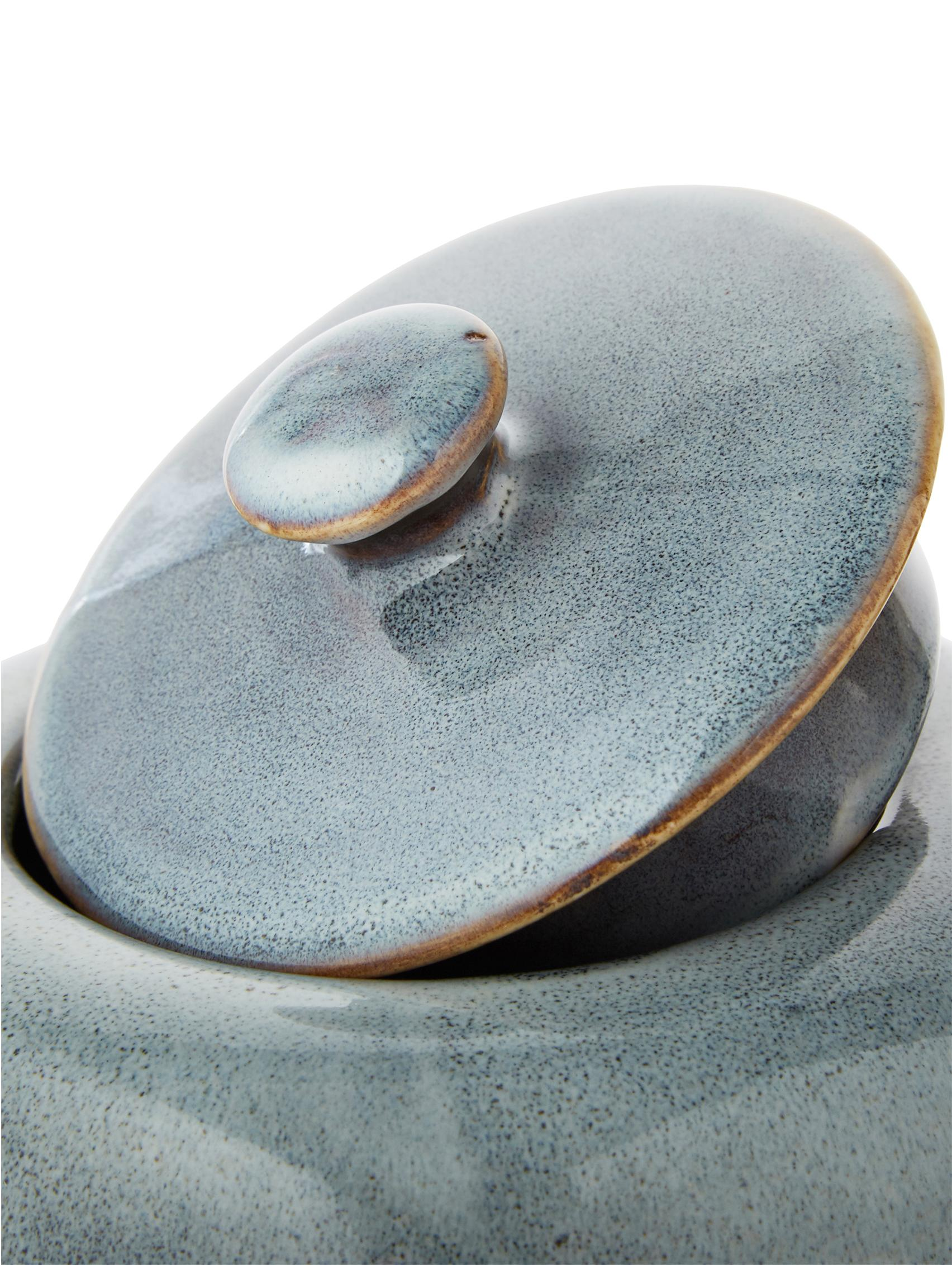 Teiera fatta a mano in terracotta Nordic Sea, Terracotta, Tonalità grigie e blu, 1 L