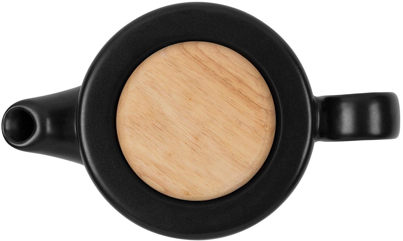 Tetera Baltika, Gres, bambú, acero inoxidable, Negro, 1 L