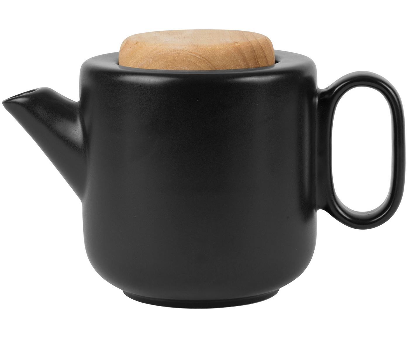 Teiera con colino da tè e coperchio Baltika, Terracotta, bambù, acciaio inossidabile, Nero, 1 l