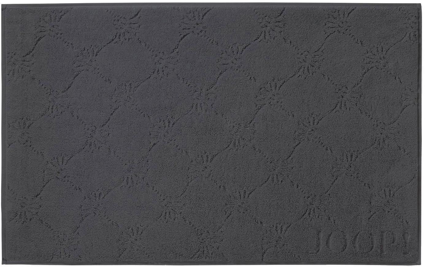 Badmat Cornflower, Weeftechniek: terry, Antraciet, 50 x 80 cm