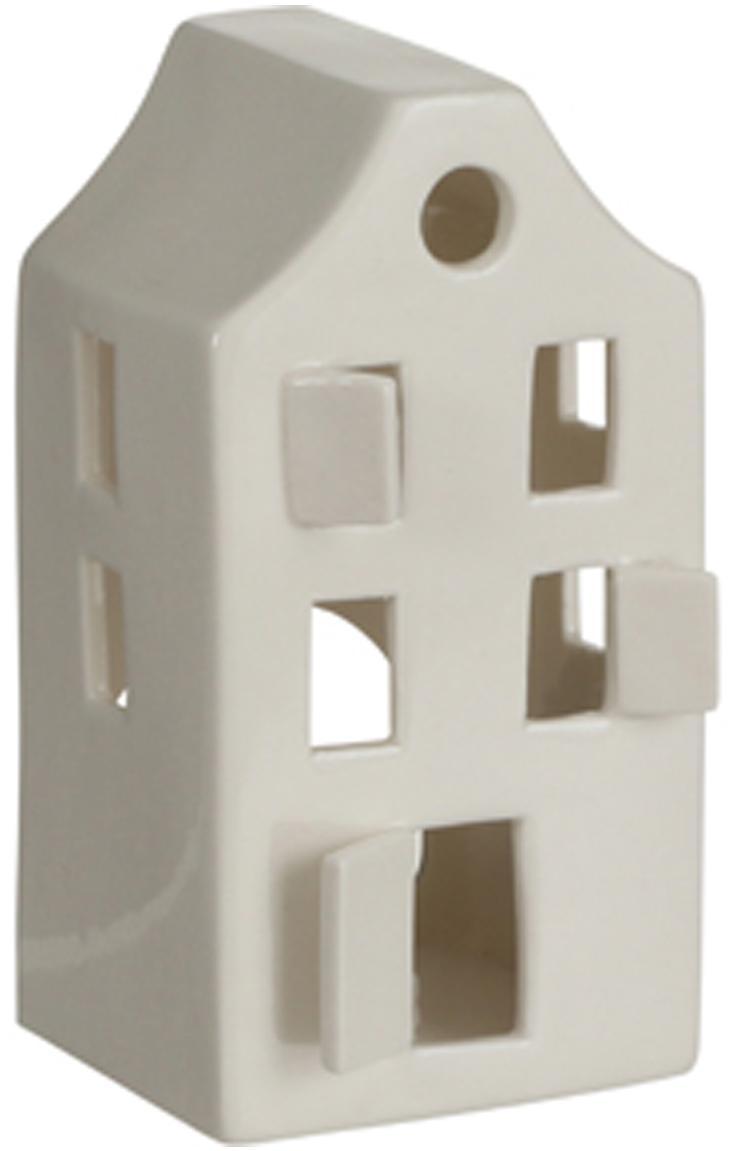 Casetta portacandela in porcellana House, Porcellana, Bianco, Larg. 8 x Alt. 14 cm