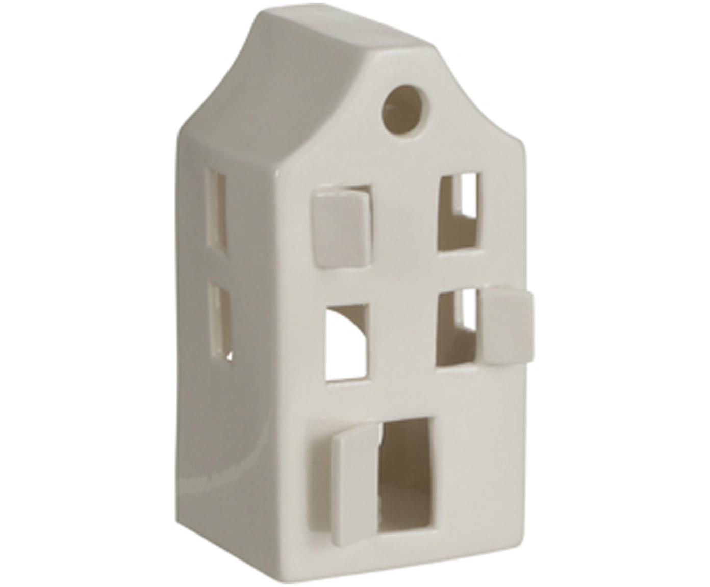Teelichthalter House, Porzellan, Weiss, 8 x 14 cm