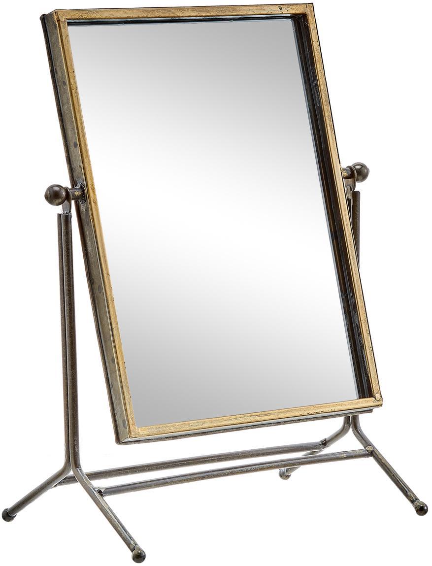 Lusterko kosmetyczne Antique, Odcienie mosiądzu, S 33 x W 44 cm