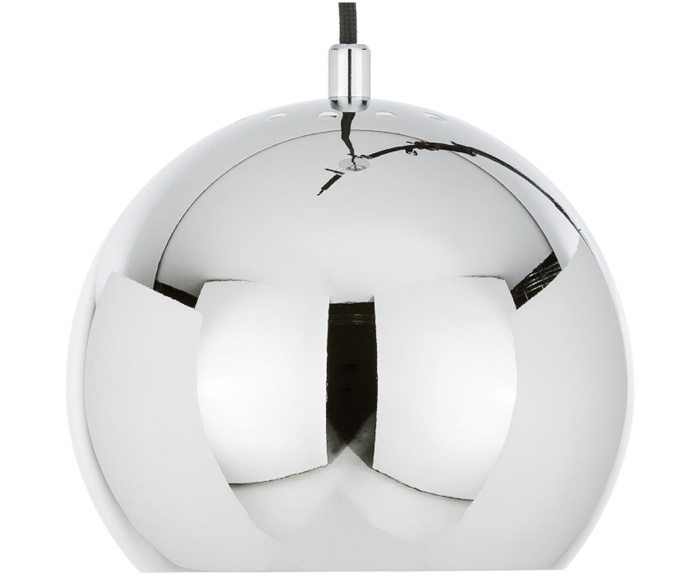 Lampada a sospensione a sfera Ball, Metallo cromato, Metallo cromato, Ø 18 x Alt. 16 cm