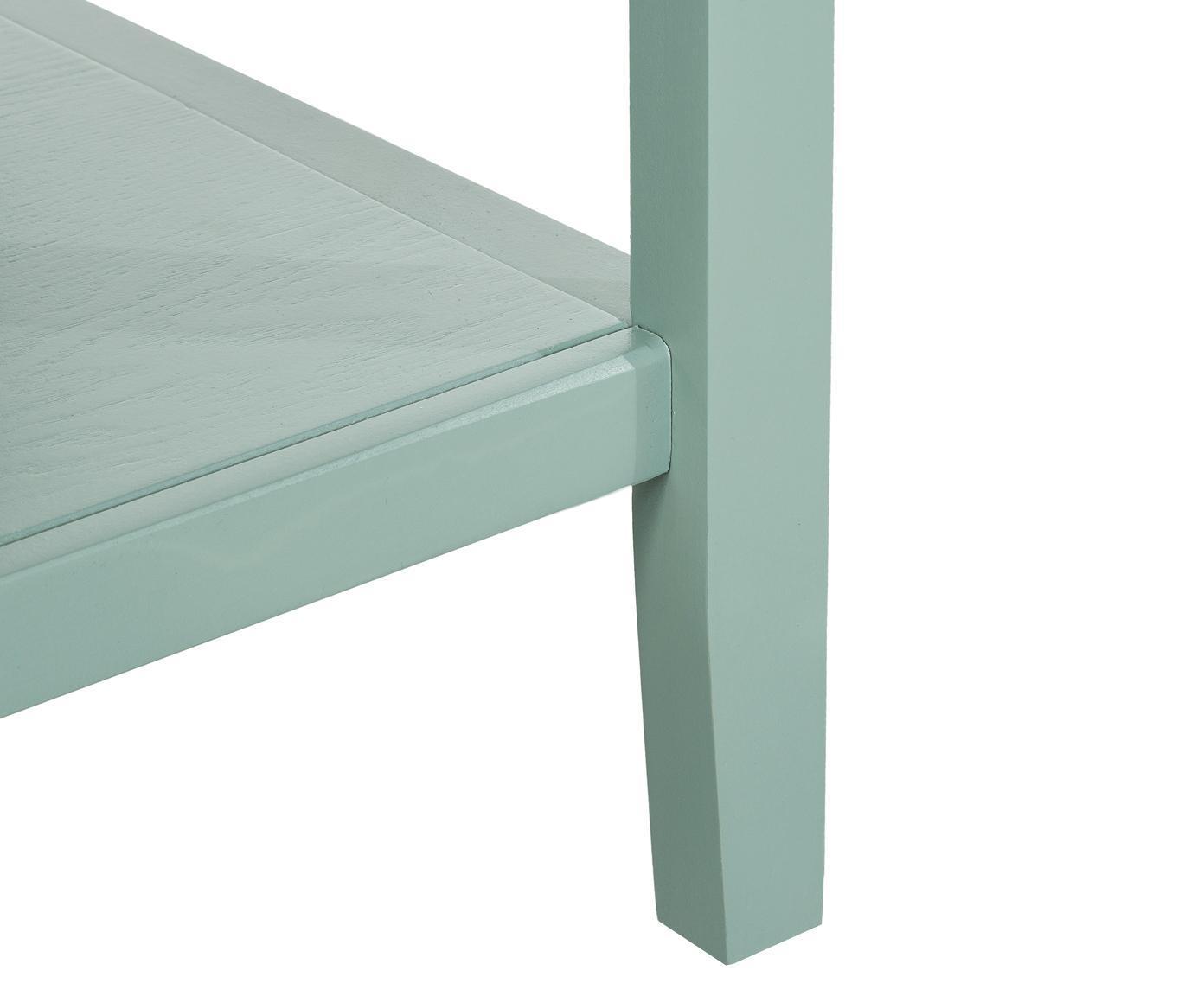Sideboard Amy im Landhausstil, Korpus: Ulmenholz, Kiefernholz, l, Griffe: Zinklegierung, Mintgrün, 116 x 86 cm