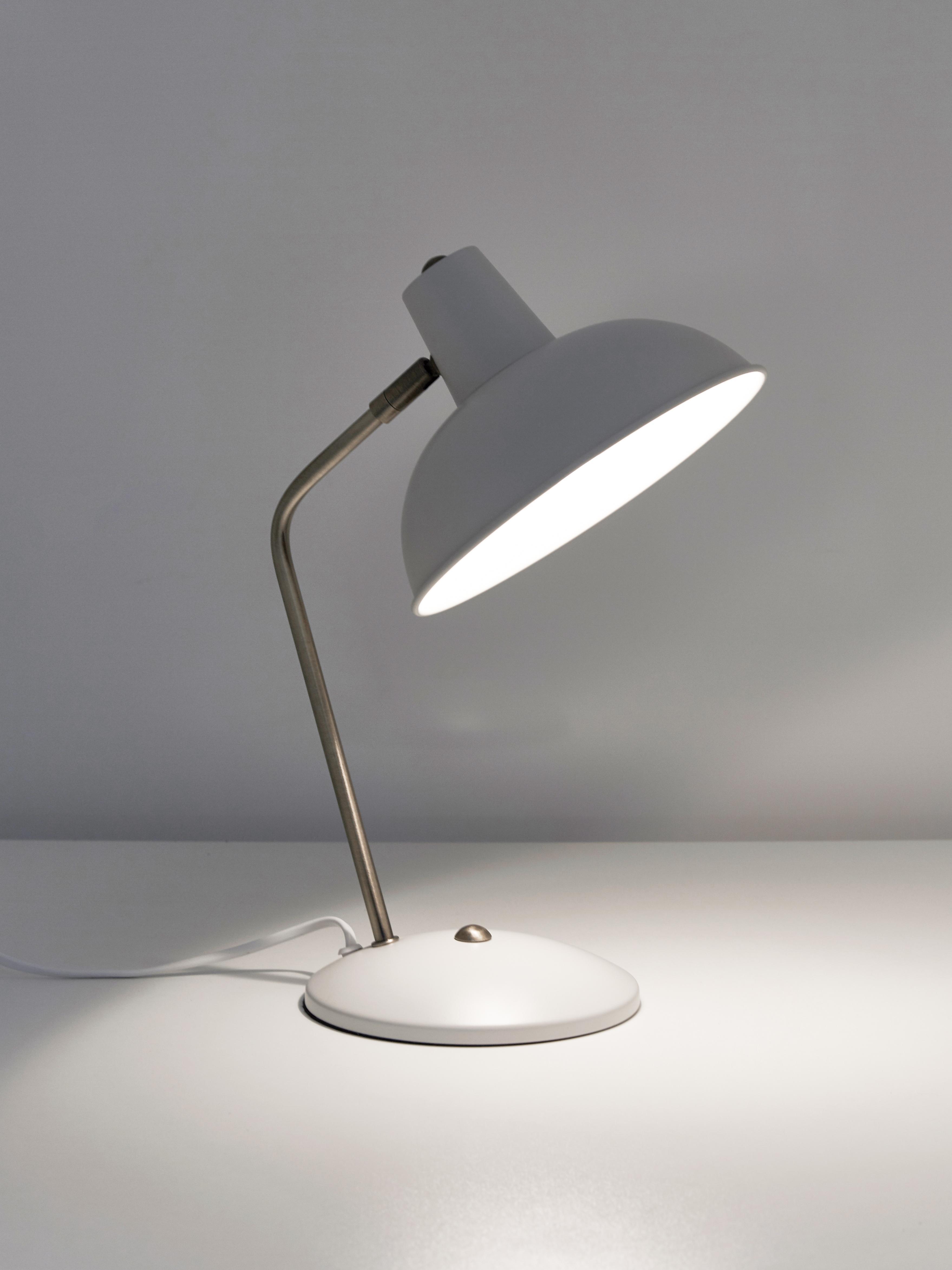 Lampa stołowa Hood, Biały, mosiężny, 20 x 38 cm