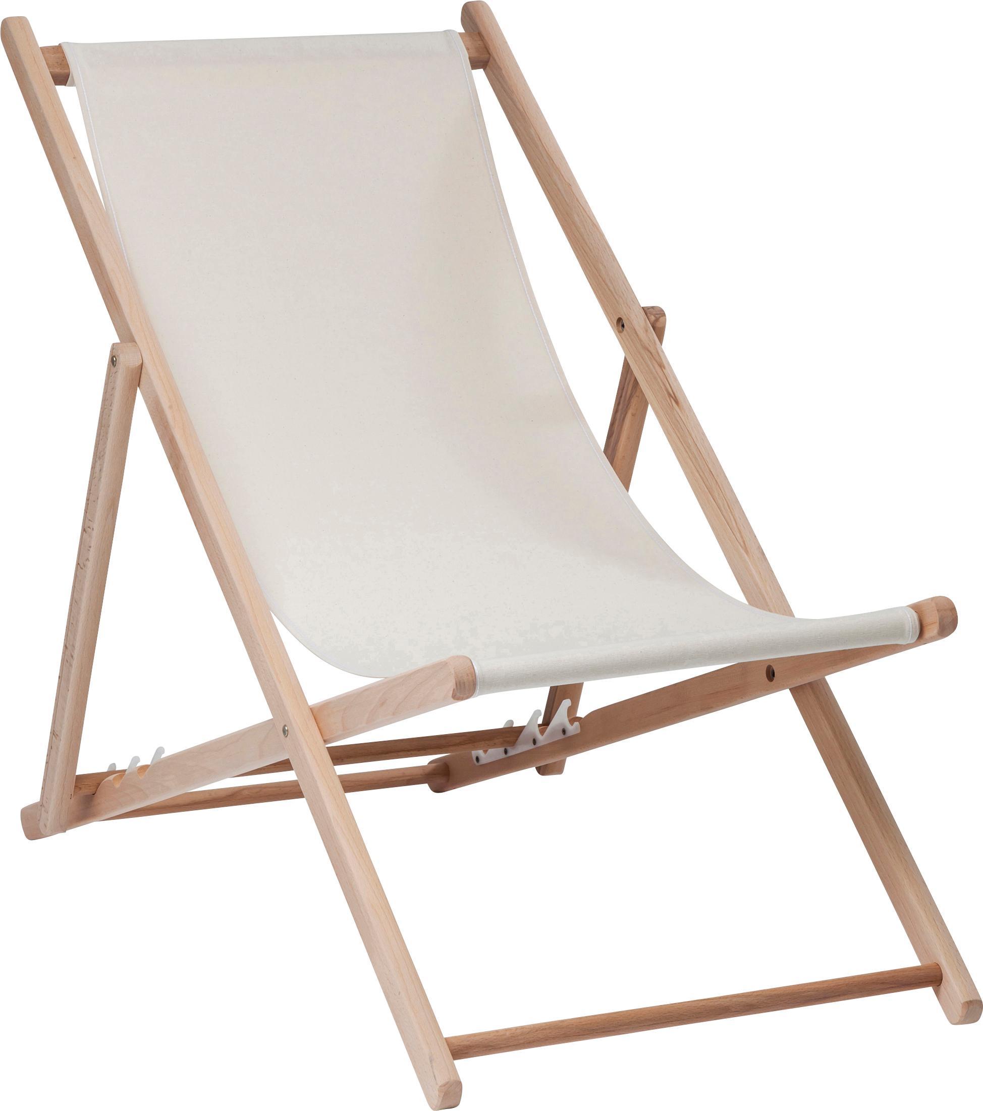 Sedia a sdraio pieghevole Hot Summer, Struttura: legno di faggio, Beige, legno di faggio, Larg. 96 x Prof. 56 cm
