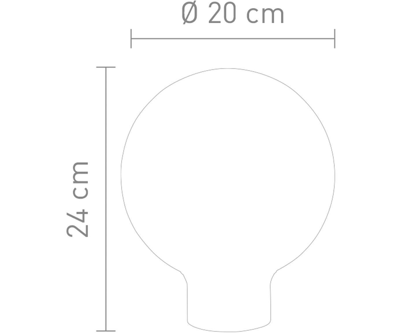 Tafellamp Tokio, Lampenkap: verspiegeld glas, Lampvoet: gesatineerd metaal, Grijs, metaalkleurig, Ø 20 x H 24 cm