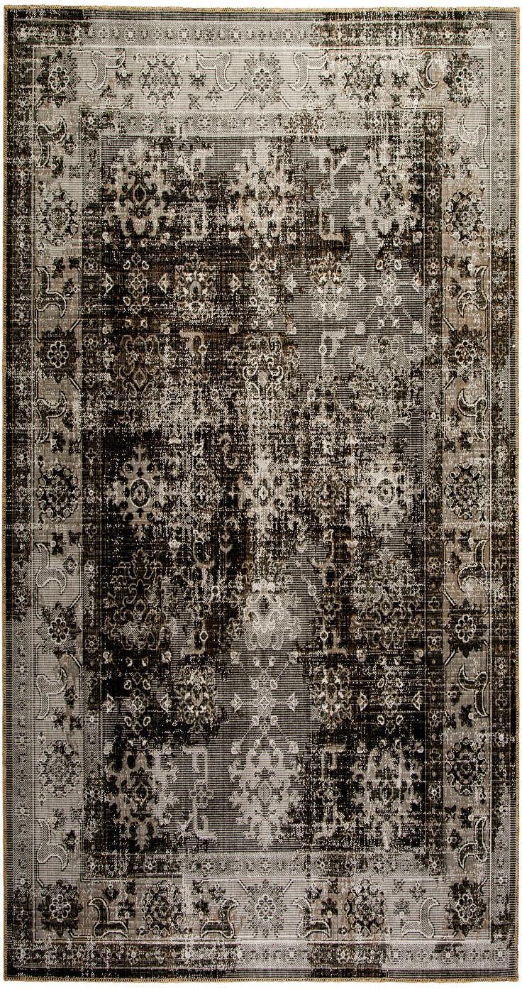 In- & Outdoor-Teppich Tilas Antalya im Vintage Style, Grautöne, Schwarz, B 160 x L 230 cm (Größe M)
