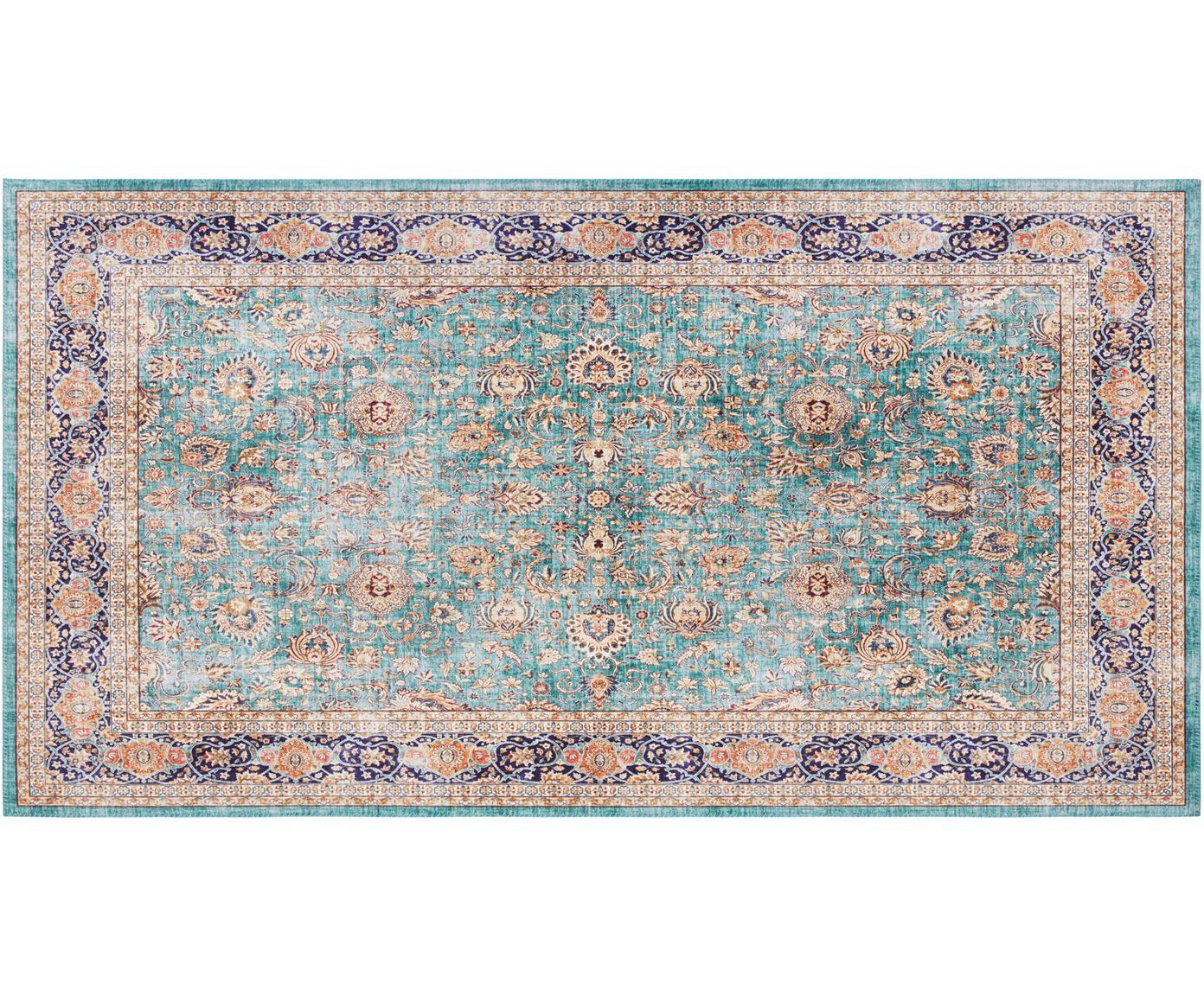Teppich Keshan Maschad im Orient Style, Jadegrün, Mehrfarbig, B 80 x L 150 cm (Größe XS)