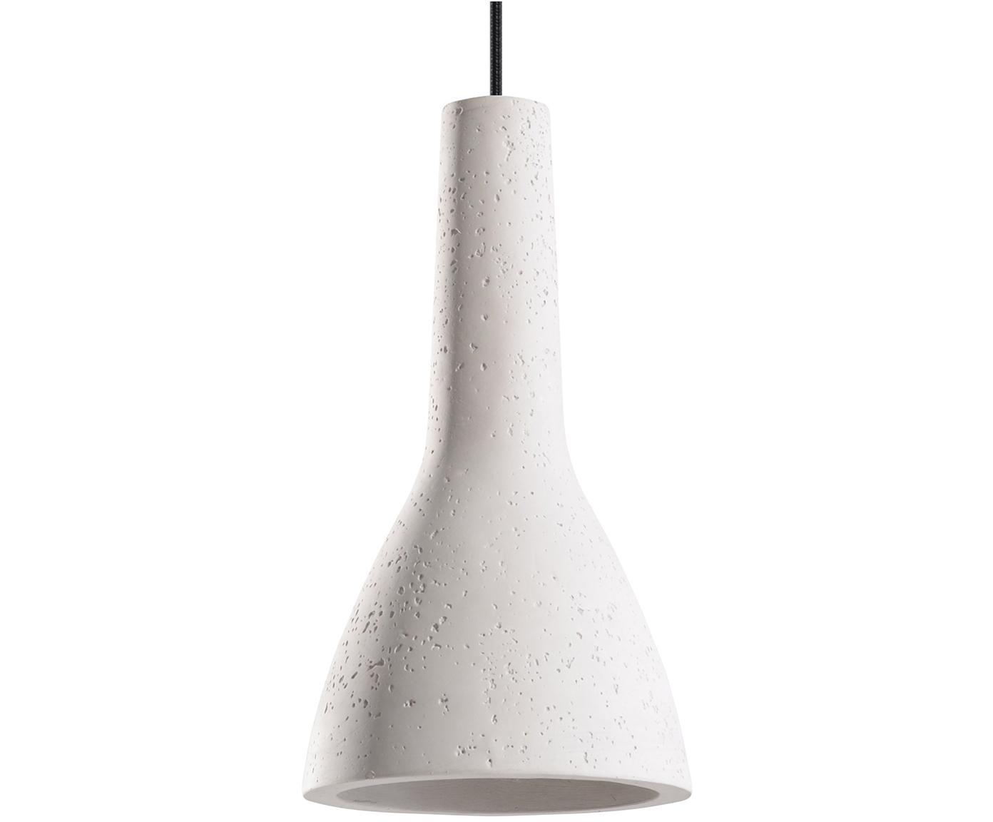 Lampada a sospensione Mattia, Cemento, Bianco, Ø 17 x Alt. 100 cm