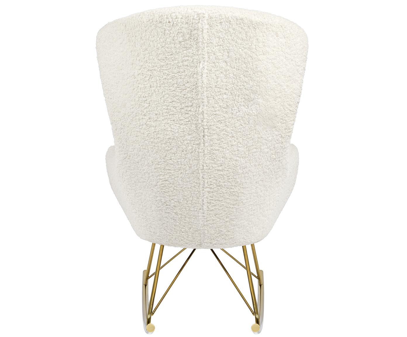 Plyšová hojdacia stolička Wing, Krémovobiela