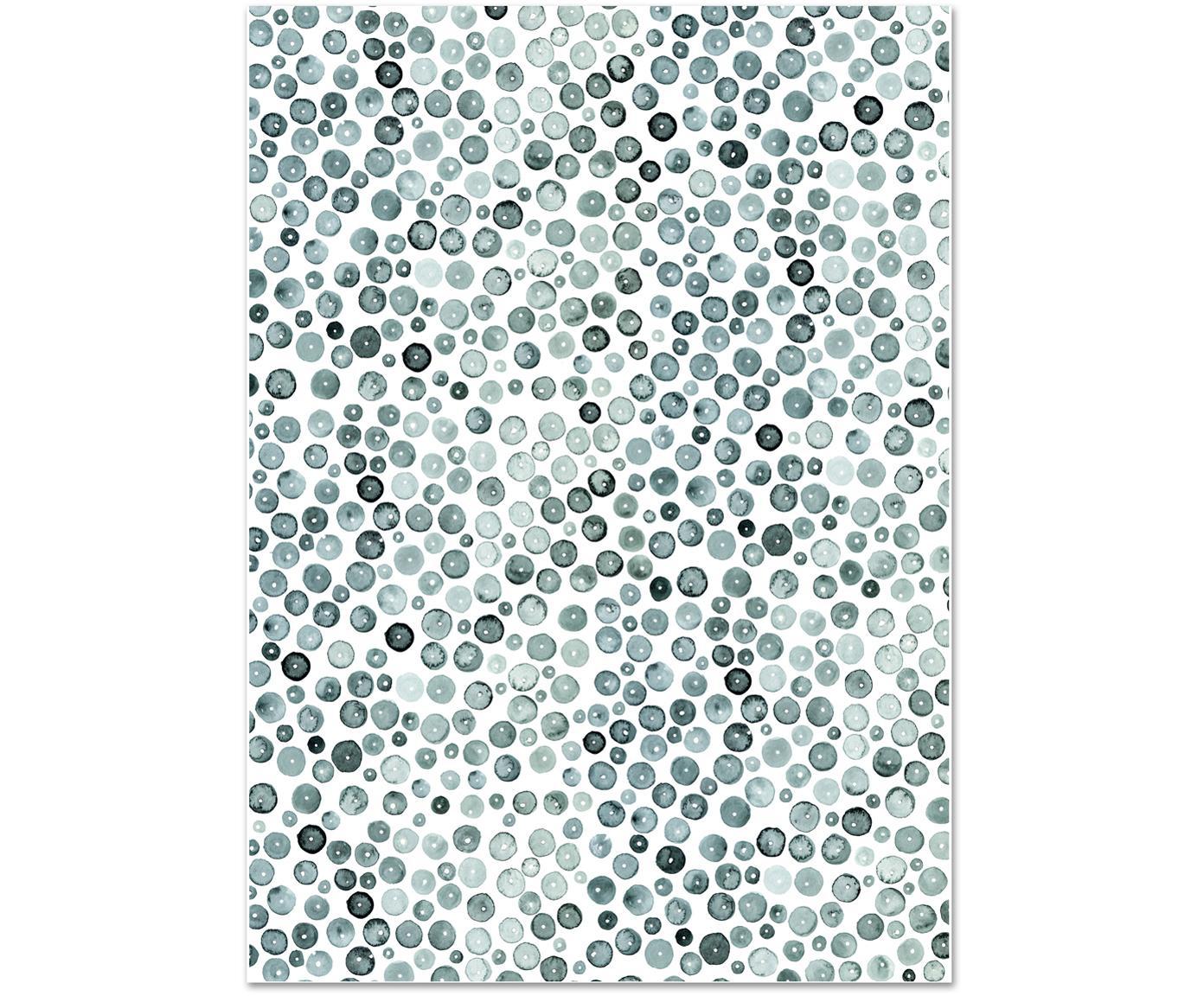 Rolka papieru prezentowego Green, 3 szt., Papier, Zielony, biały, S 50 x W 70 cm