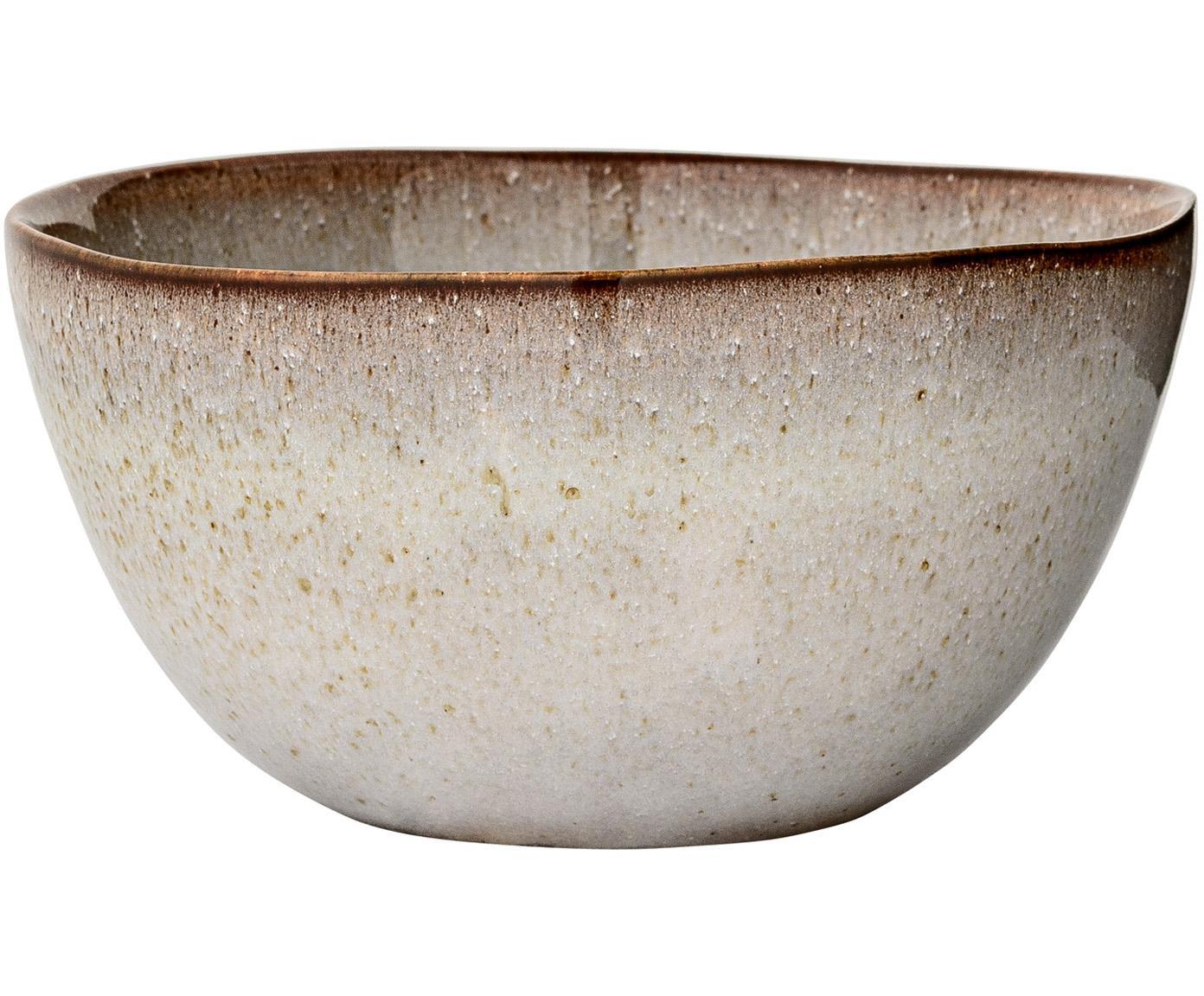 Ręcznie wykonana miska Sandrine, 6 szt., Ceramika, Jasny szary, Ø 15 x W 8 cm