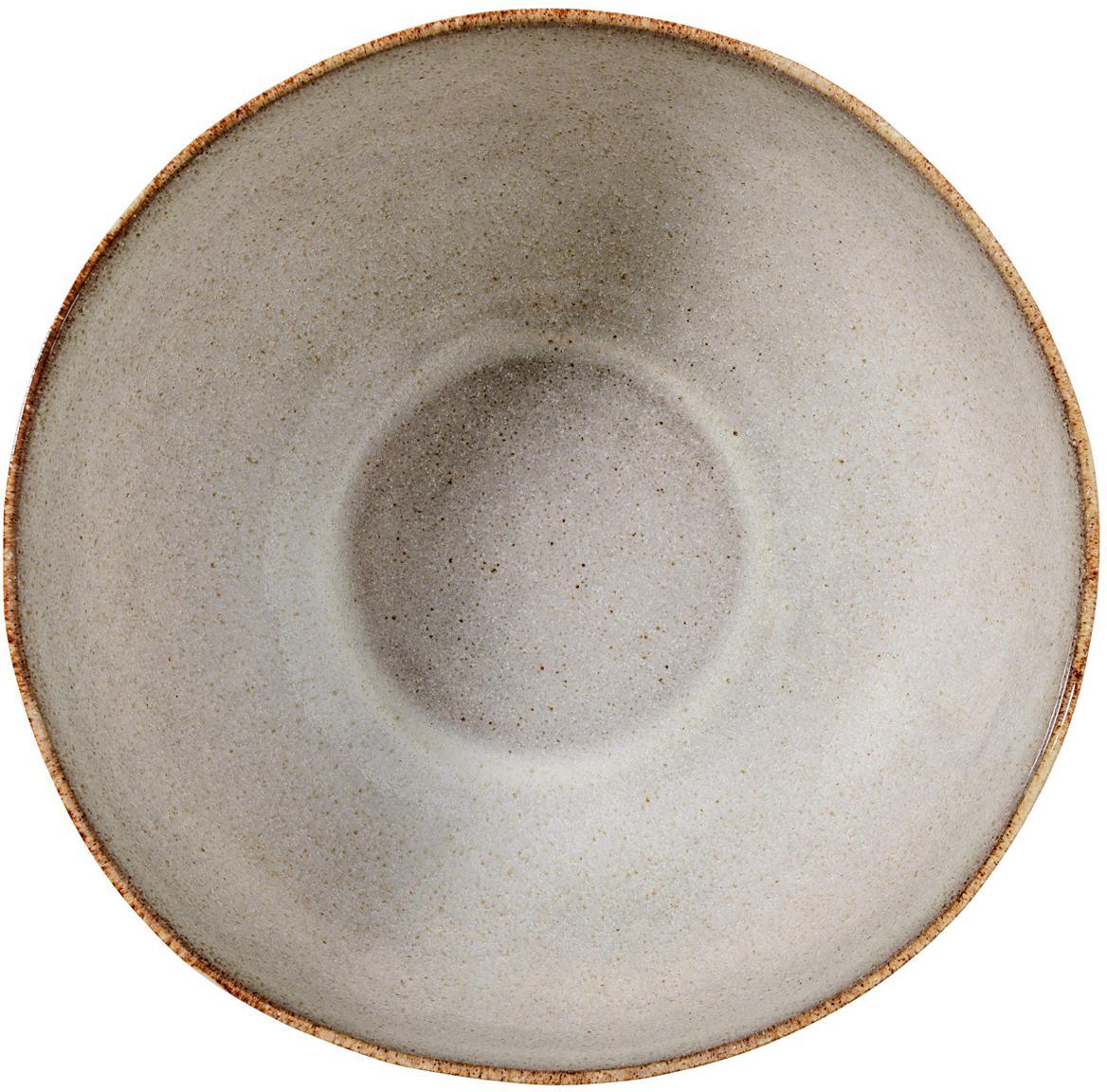 Handgemachte Schälchen Sandrine in Beige, 6 Stück, Steingut, Beigetöne, Ø 15 x H 8 cm
