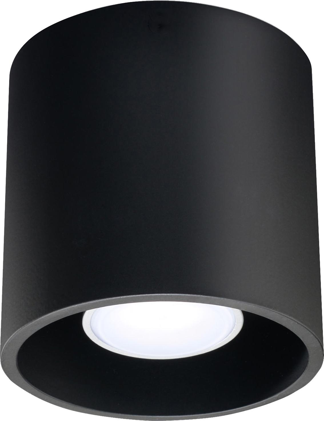 Deckenspot Roda in Schwarz, Aluminium, beschichtet, Schwarz, Ø 10 x H 10 cm