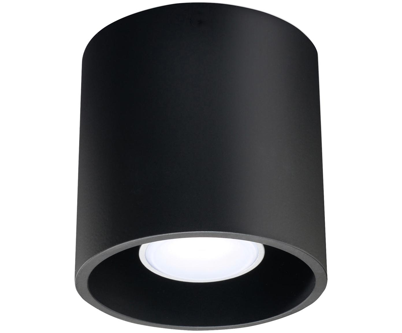 Foco Roda, Aluminio recubierto, Negro, Ø 10 x Al 10 cm