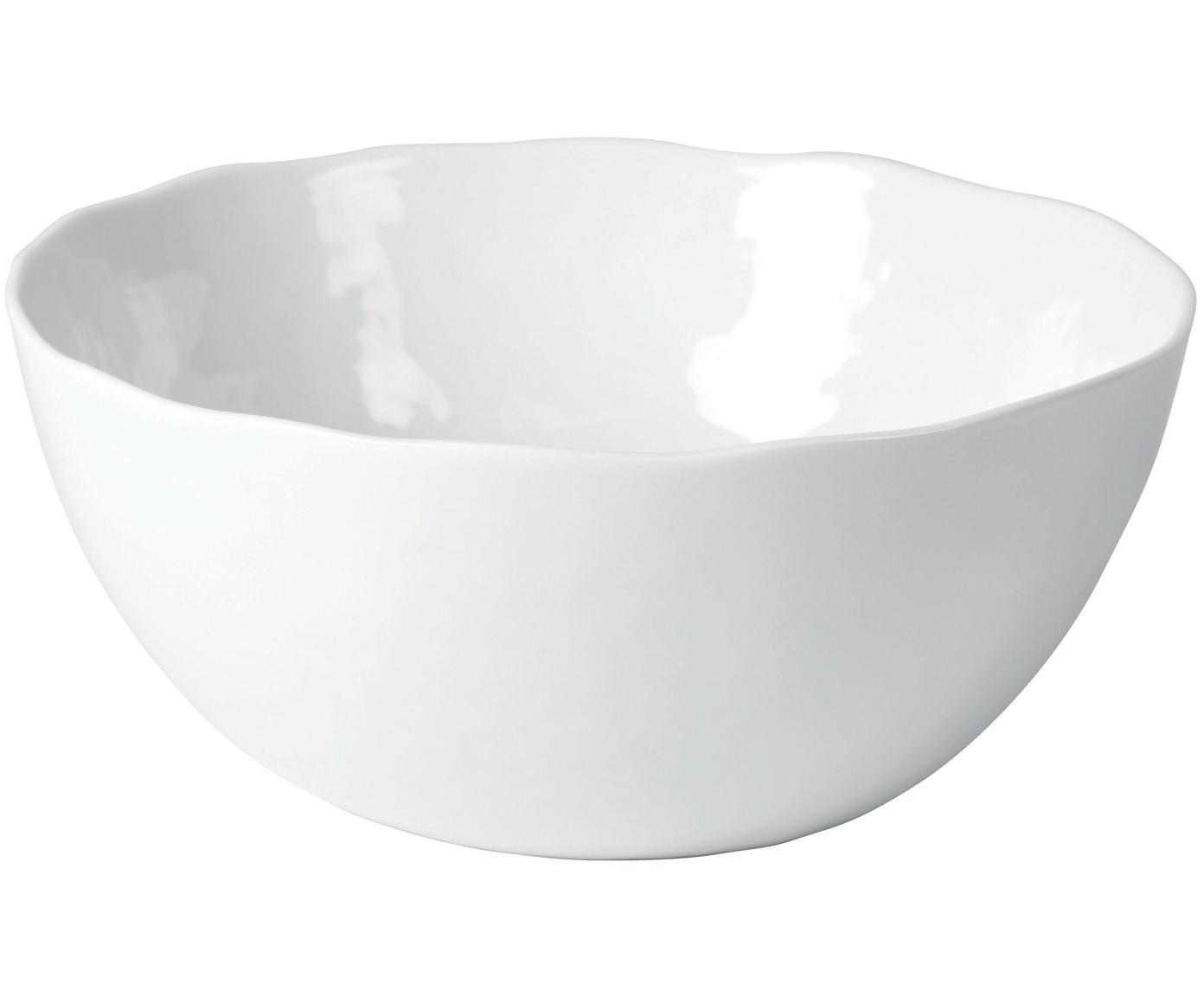 Misa Porcelino, Porcelana o celowo nierównym kształcie, Biały, Ø 24 x W 10 cm