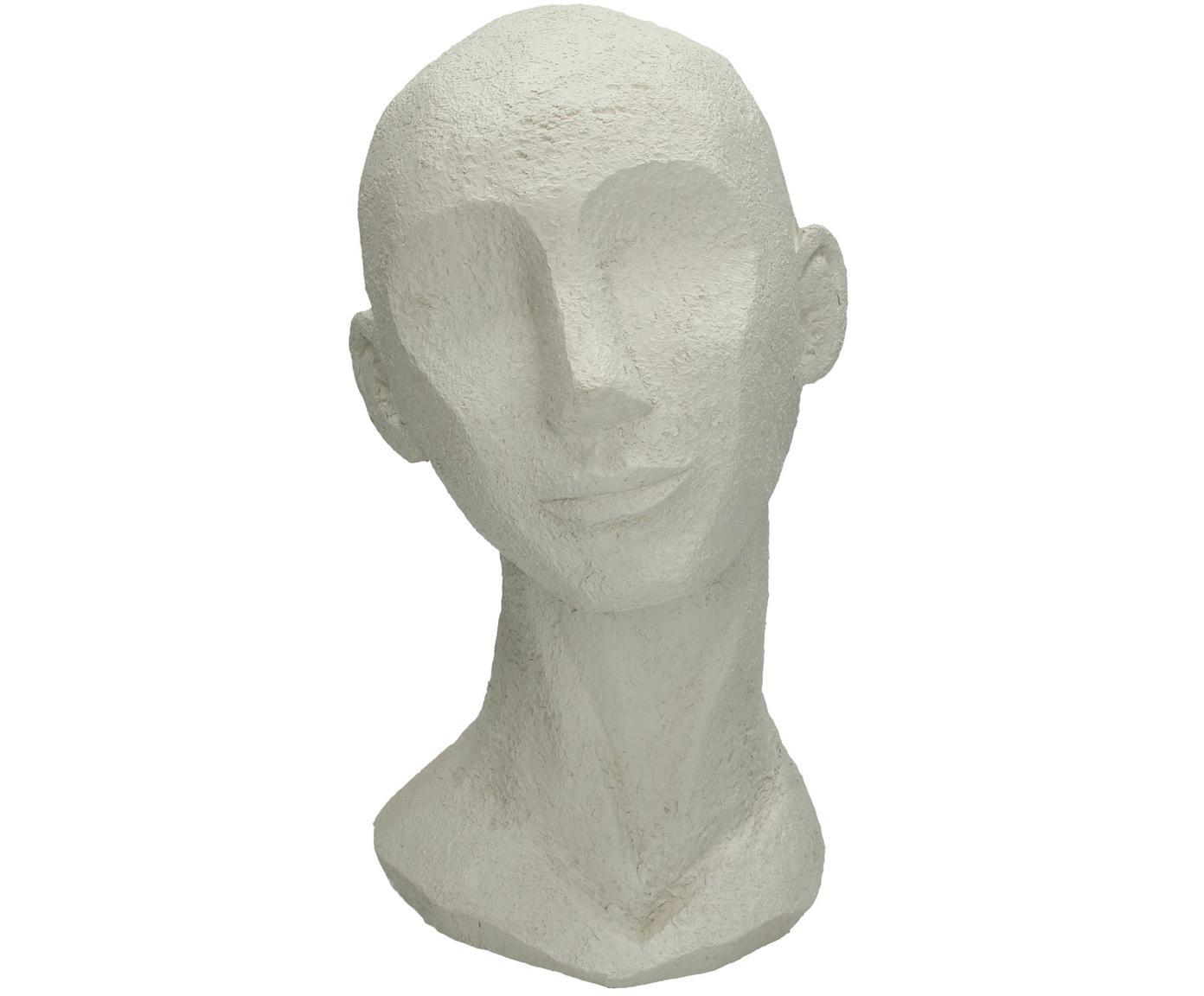 Deko-Objekt Head, Polyresin, Gebrochenes Weiß, 18 x 28 cm