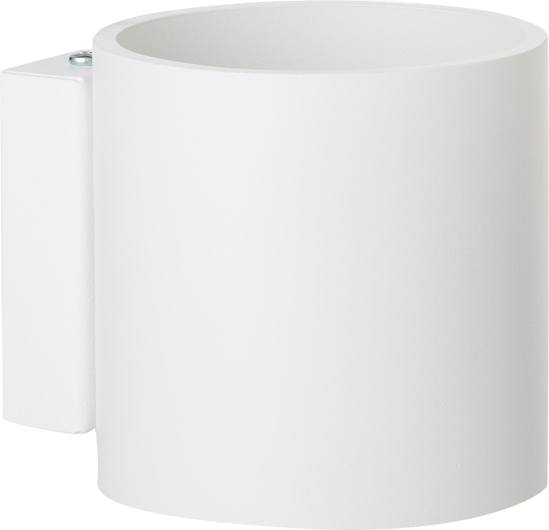Wandleuchte Roda in Weiß, Aluminium, pulverbeschichtet, Weiß, 10 x 10 cm