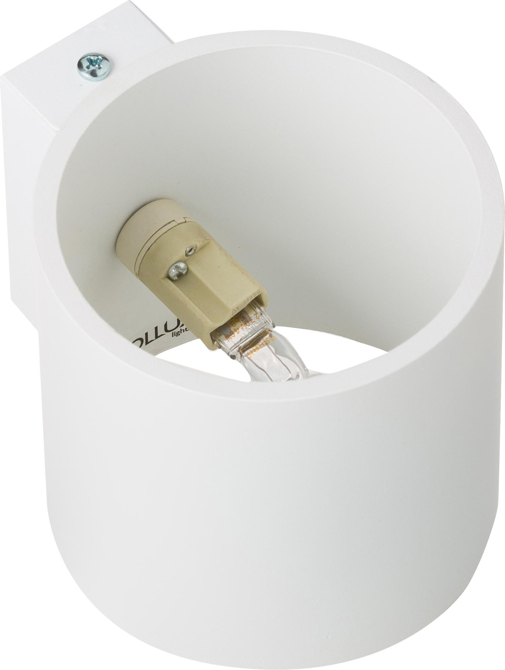 Applique Roda, Alluminio verniciato a polvere, Bianco, Larg. 10 x Alt. 10 cm