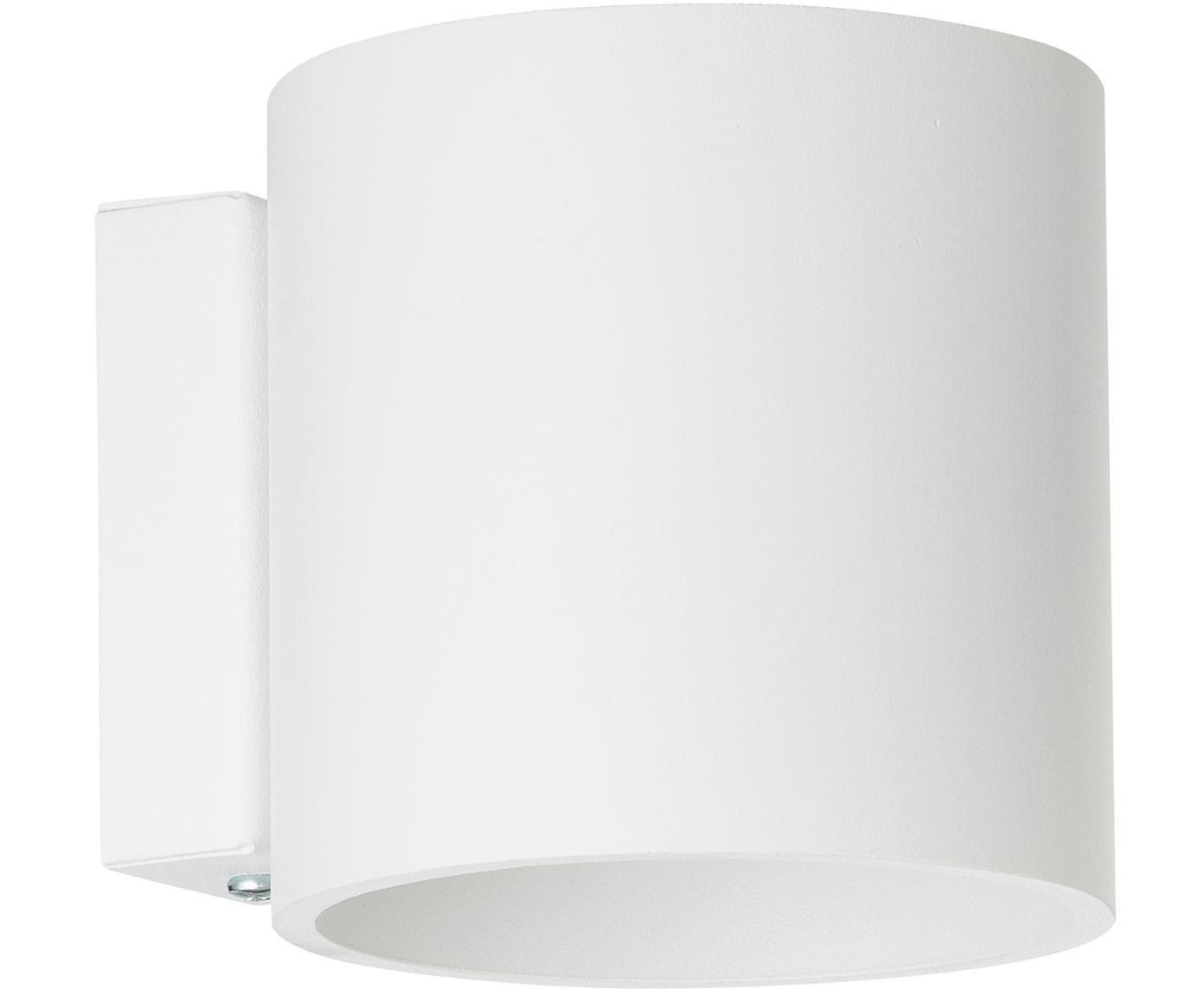 Wandlamp Roda, Gepoedercoat aluminium, Wit, 10 x 10 cm