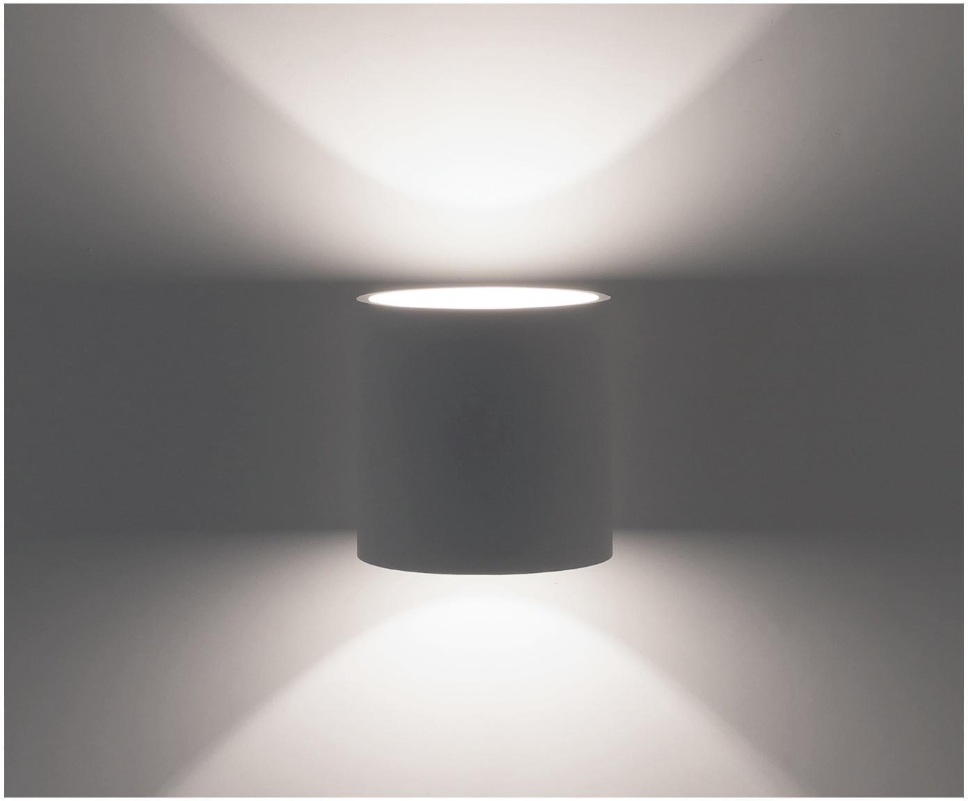 Kinkiet Roda, Aluminium malowane proszkowo, Biały, S 10 x W 10 cm