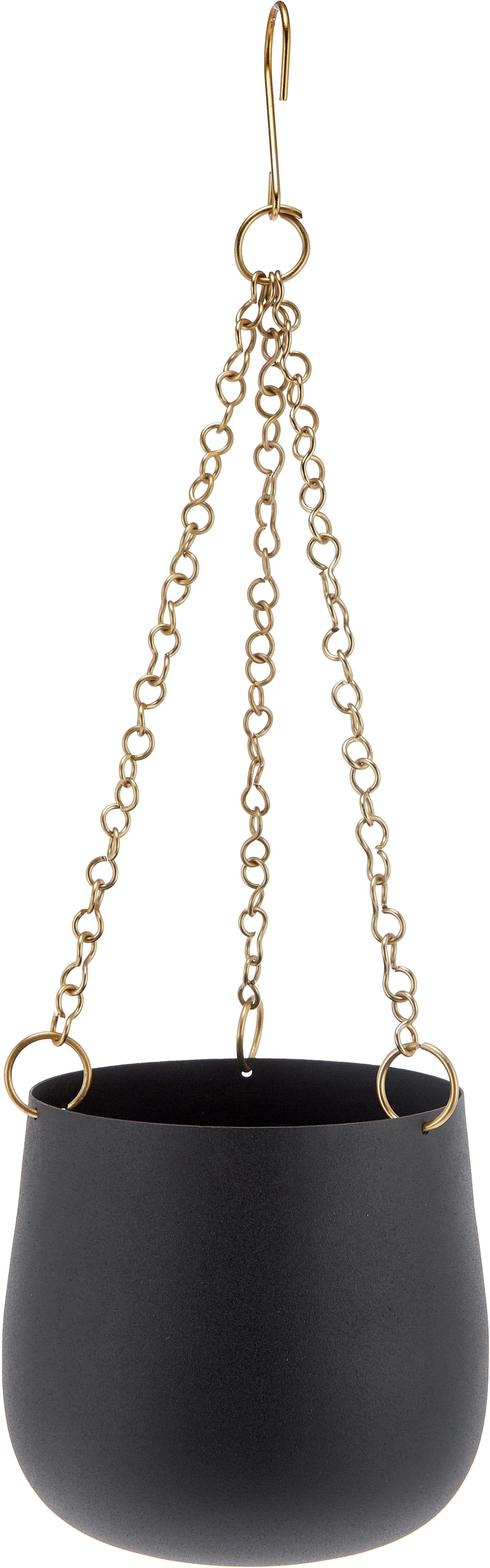 Set portavasi pensili Cask, 3 pz., Metallo verniciato, Nero, Diverse dimensioni