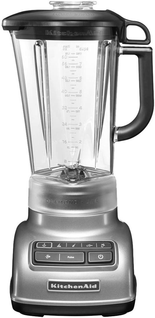 Frullatore KitchenAid, Grigio argento, trasparente, Larg. 23 x Alt. 42 cm