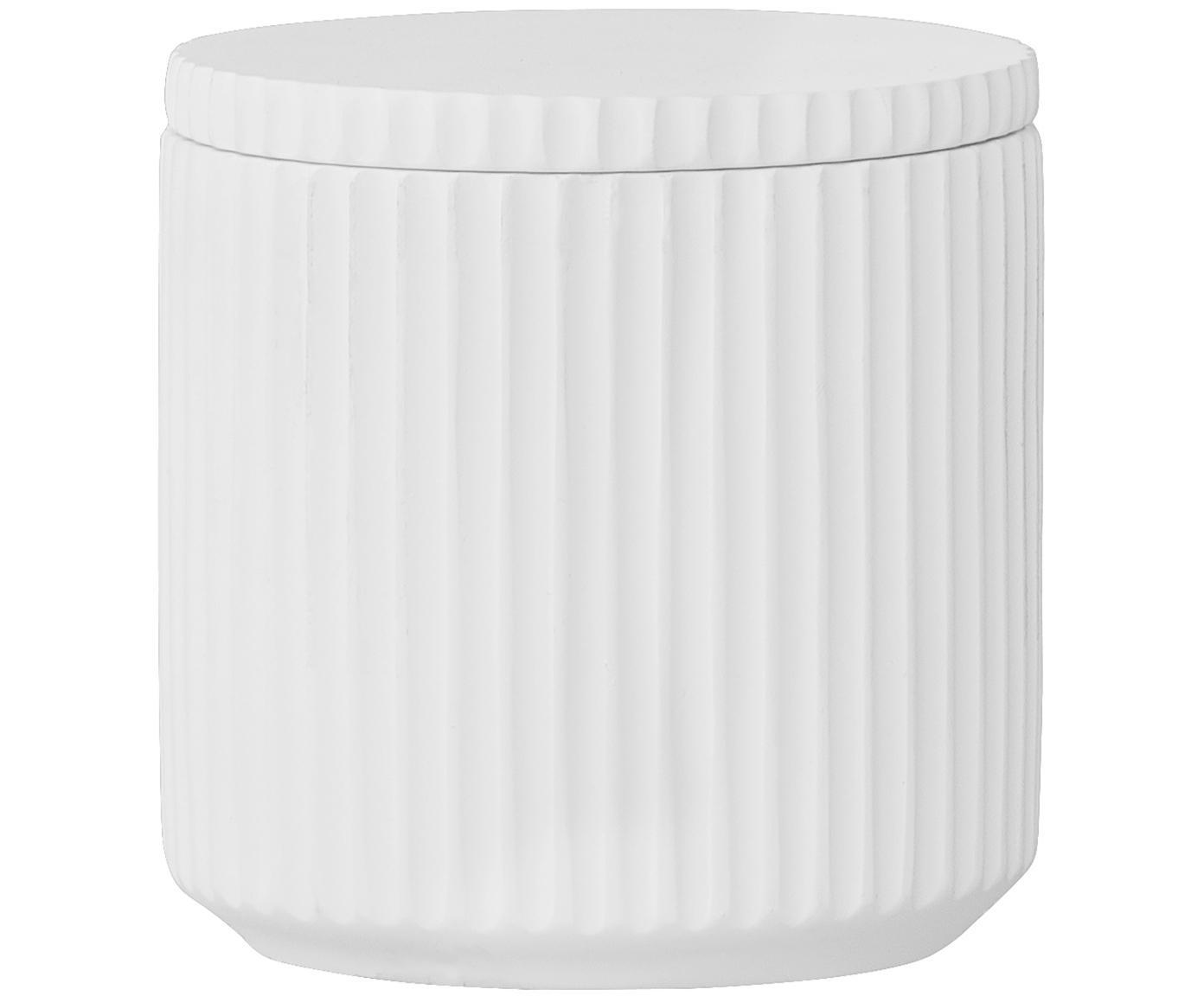 Contenitore in porcellana Alessia, Porcellana, Bianco, Ø 9 x Alt. 9 cm