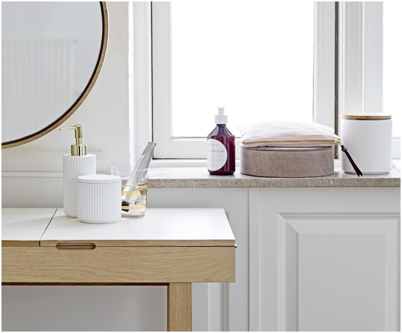 Pojemnik do przechowywania Alessia, Porcelana, Biały, Ø 9 x W 9 cm