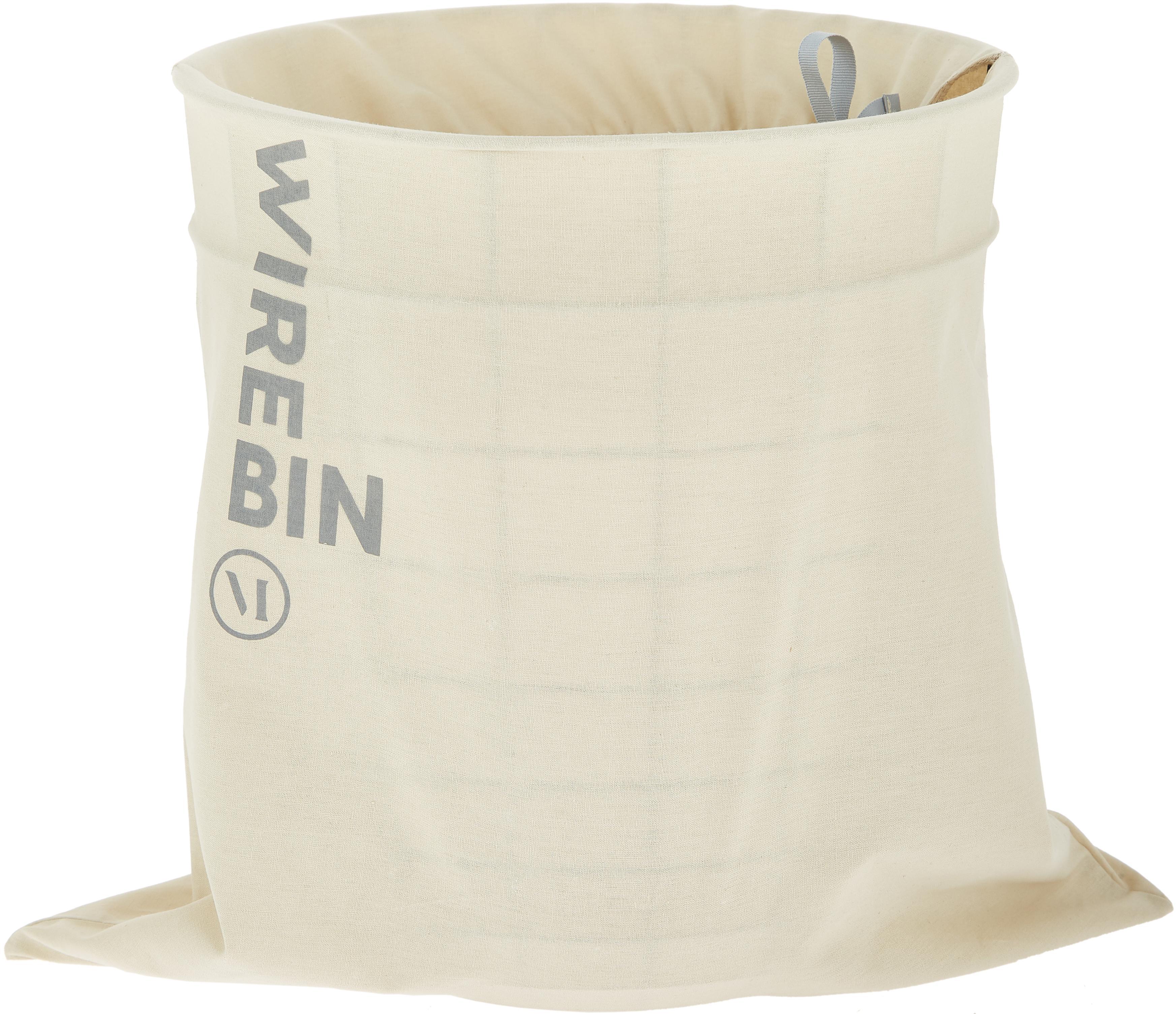 Papierkorb Wire Bin, Korb: Stahl, Schwarz, Ø 32 x H 35 cm