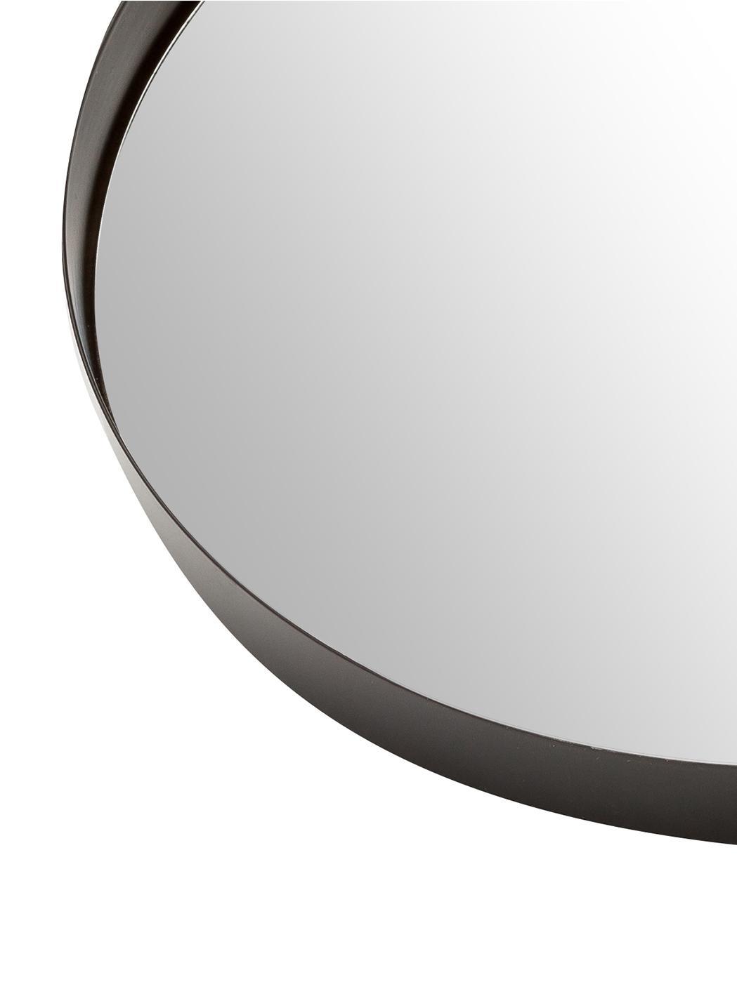 Specchio da parete con cornice Metal, Cornice: metallo verniciato con se, Cornice: nero<br>Lastra di vetro, Ø 30 cm