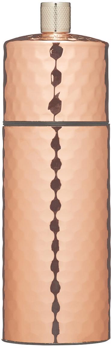Salzmühle Luna in Kupfer, Gehäuse: Kupfer, Mahlwerk: Keramik, Kupfer, Ø 5 x H 15 cm