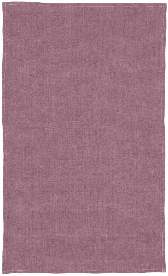 Linnen theedoek Ruta in donkere lila, Donker lila, 45 x 70 cm