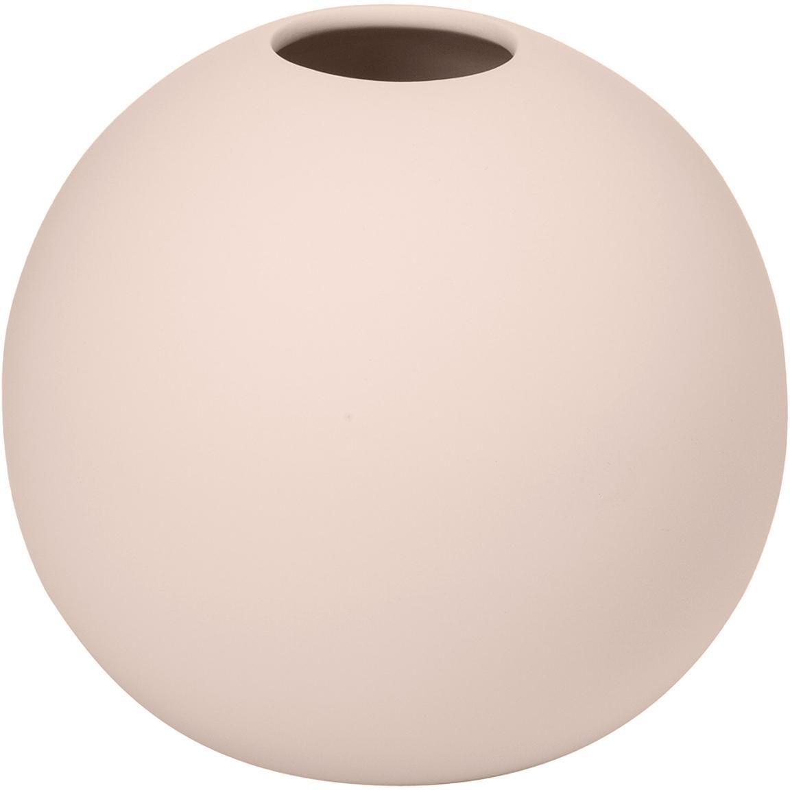 Vaso a sfera fatto a mano Ball, Ceramica, Rosa, Ø 10 x Alt. 10 cm