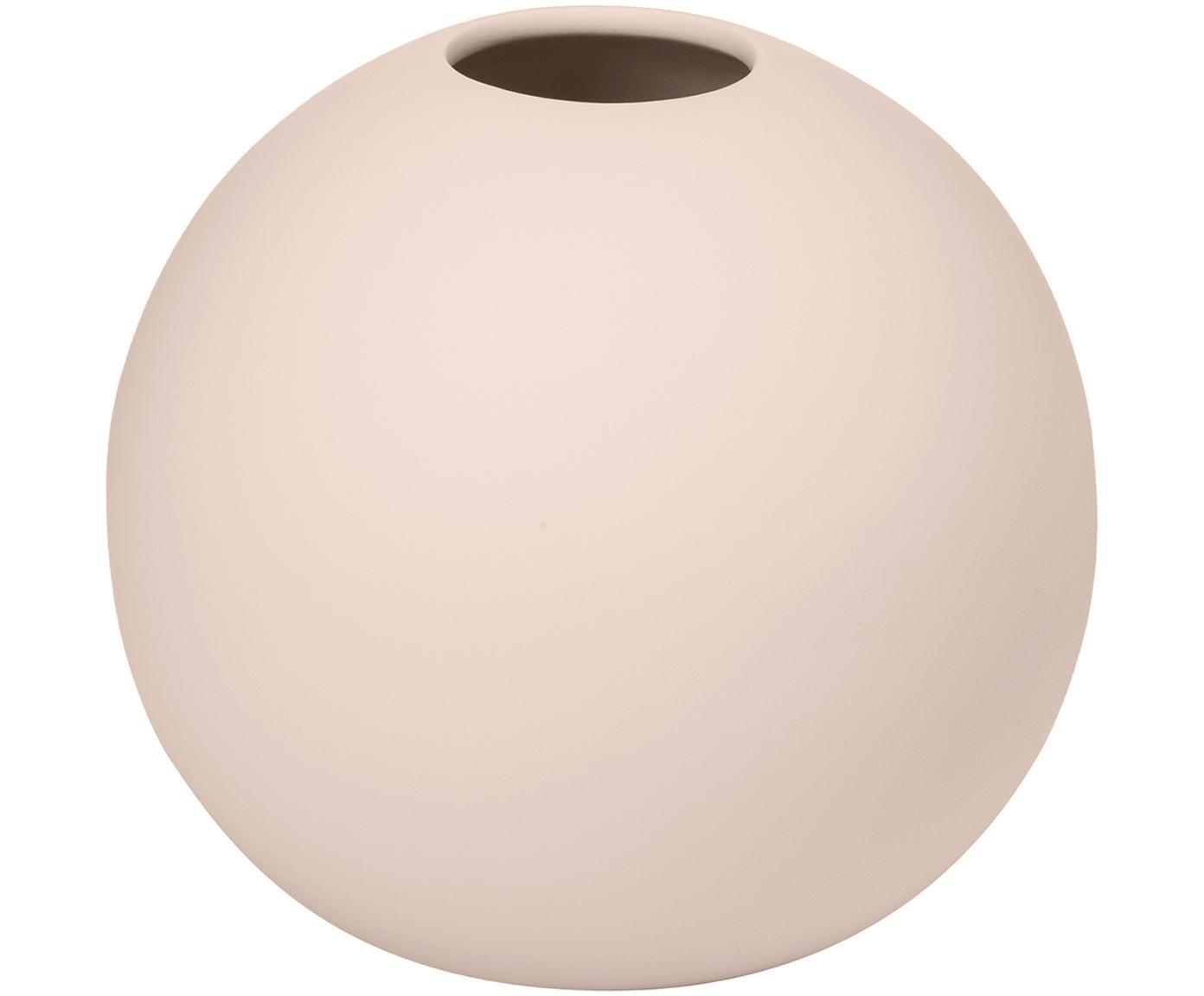 Handgemaakte bollen vaas Ball, Keramiek, Roze, Ø 10 x H 10 cm