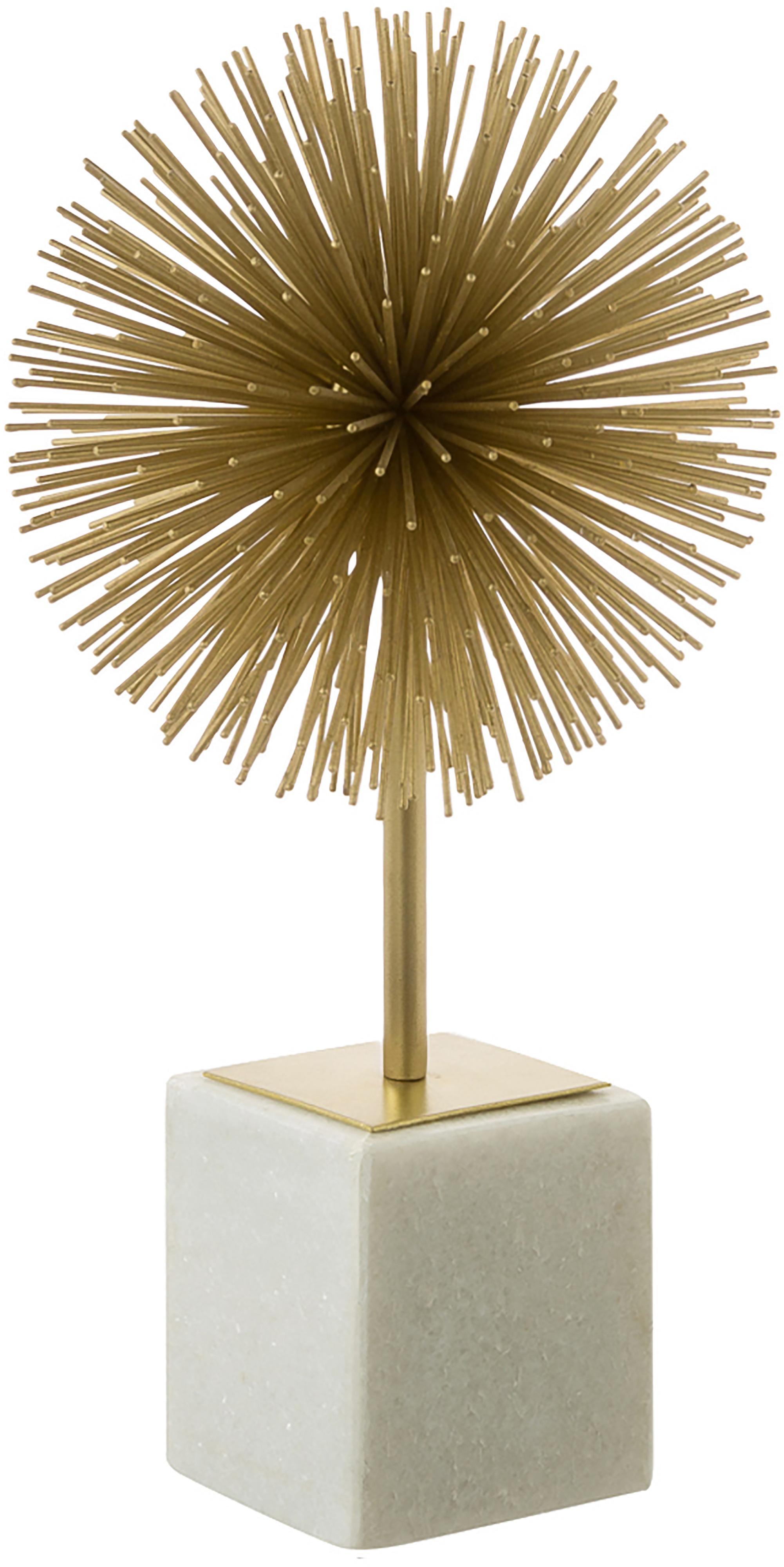 Dekoracja Marball, Nogi: marmur, Nasada: odcienie złotego<br>Nogi: biały marmur, W 30 cm