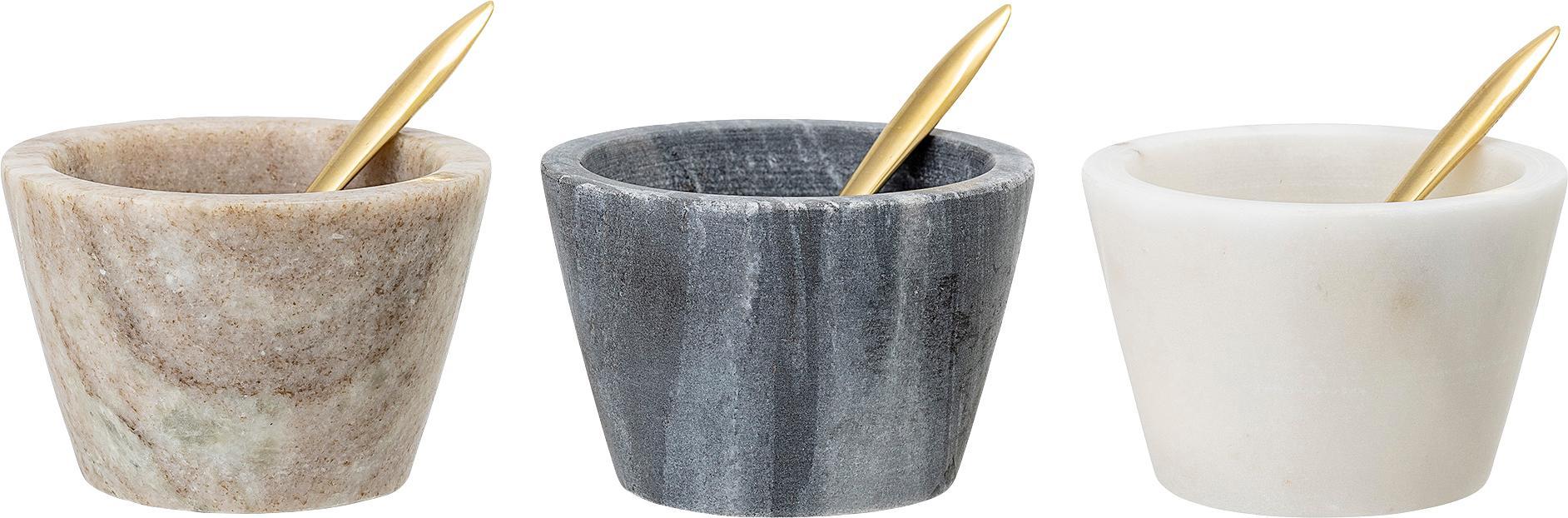 Marmor-Schälchen-Set Janina, 6-tlg., Schälchen: Marmor, Mehrfarbig, Ø 8 x H 5 cm