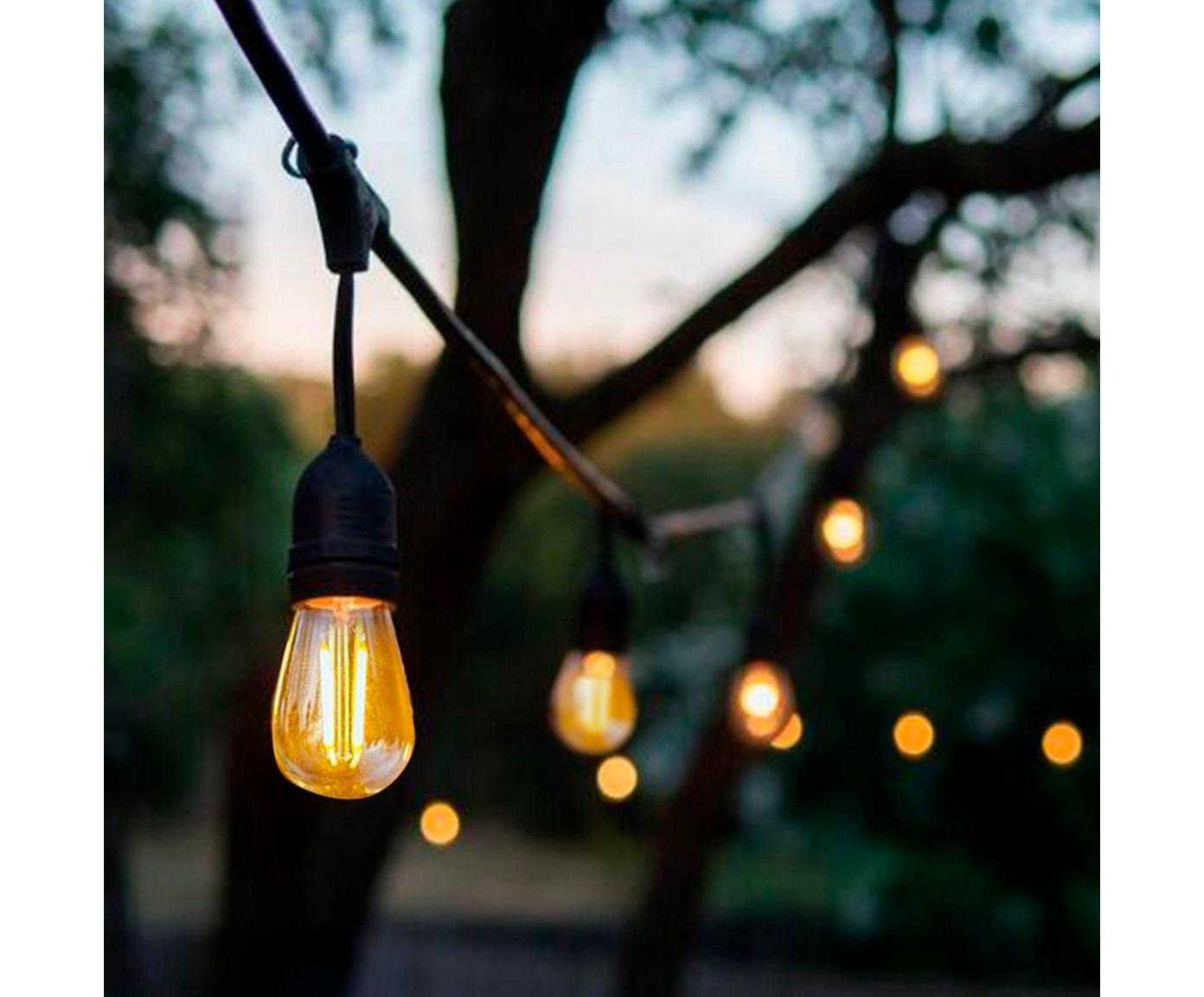 LED Lichterkette Joy, L 1000 cm, Schwarz, L 1000 cm