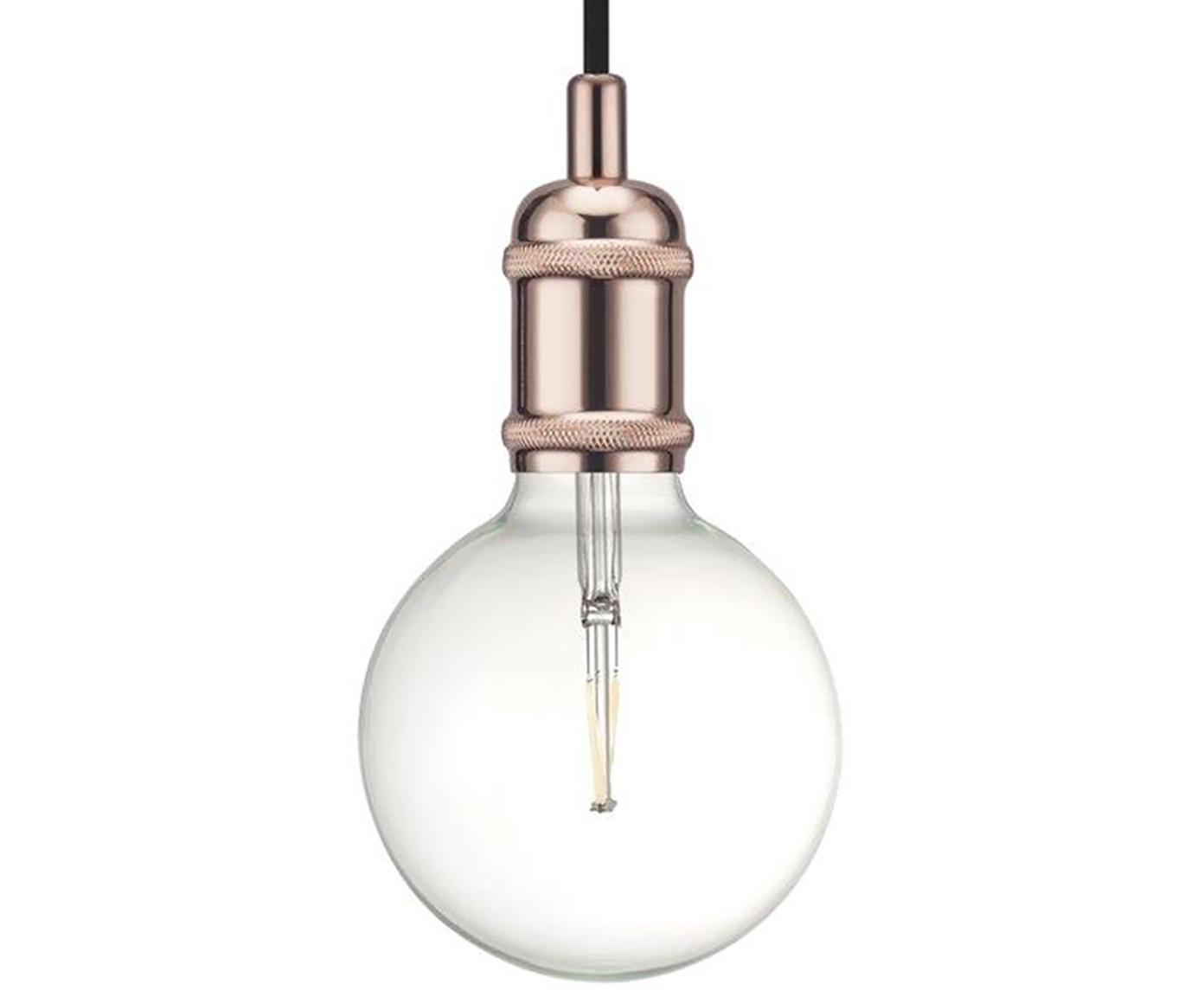 Lampada a sospensione in metallo Avra, Metallo verniciato, Rame, Ø 5 x Alt. 10 cm