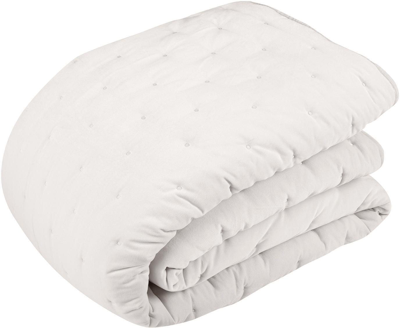 Colcha de terciopelo acolchada Cheryl, 100%algodón, Champán, An 240 x L 250 cm
