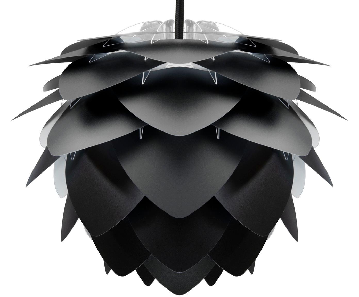 Pendelleuchte Silvia, Bausatz, Lampenschirm: Polypropylen, Schwarz, Ø 32 x H 25 cm
