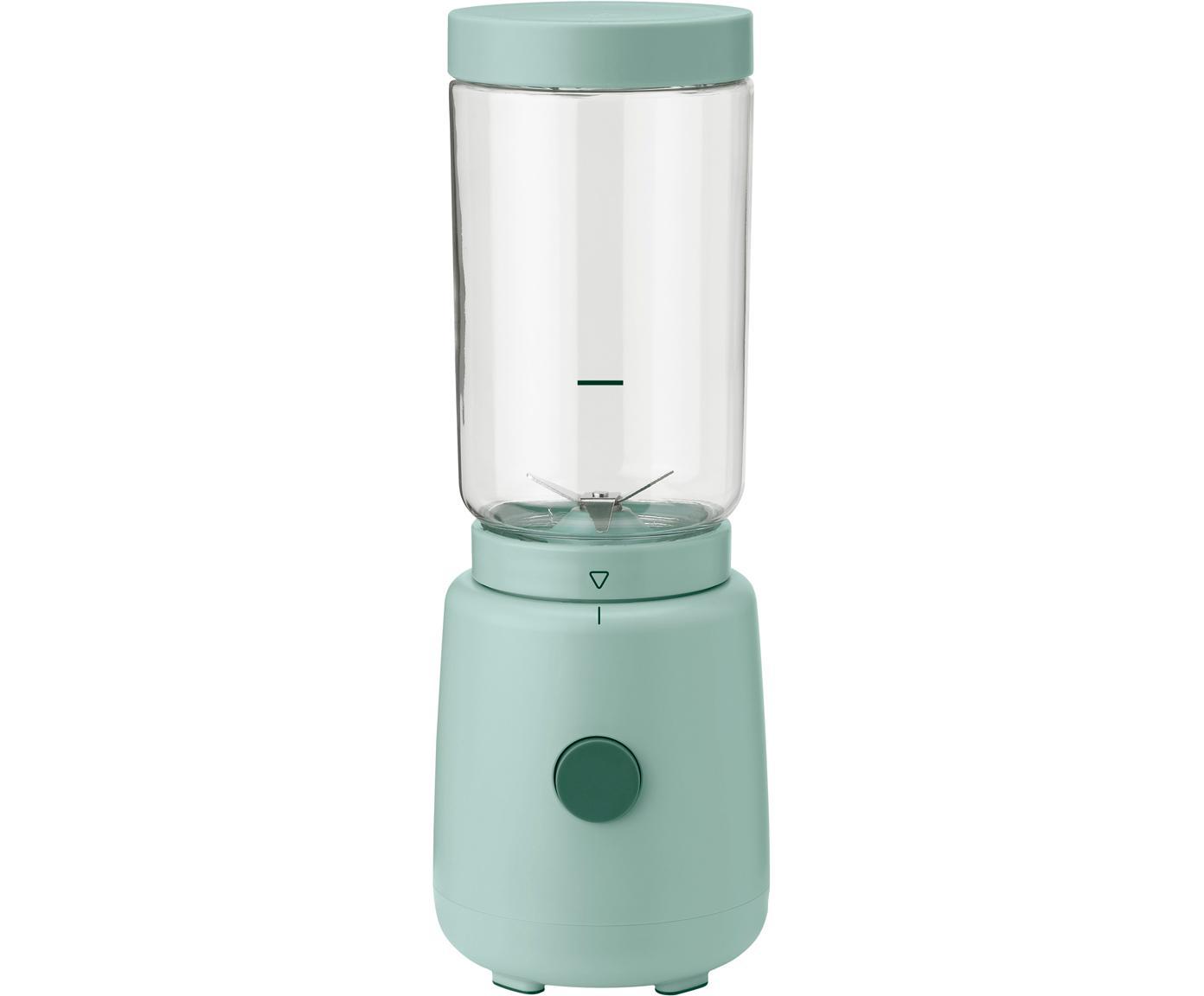 Blender Foodie, Tworzywo sztuczne, stal szlachetna, szkło, Zielony miętowy, Ø 10 x W 30 cm