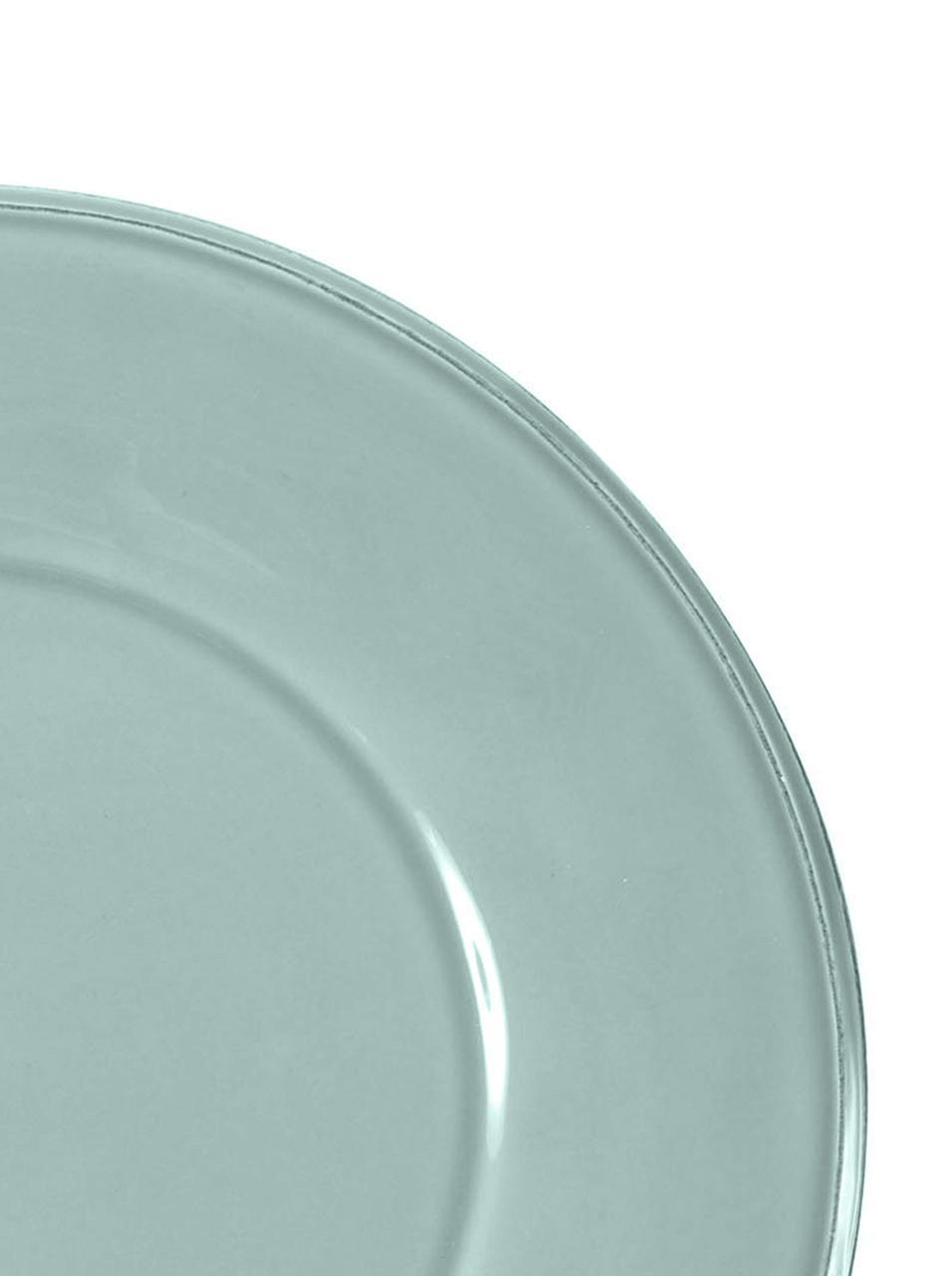 Speiseteller Constance in Mint im Landhaus Style, 2 Stück, Steingut, Mint, Ø 29 cm