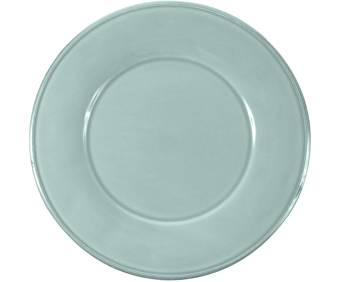 Talerz duży obiadowy Constance, 2 szt., Kamionka, Miętowy, Ø 29 cm