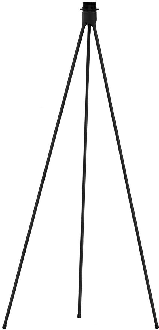 Base de lámpara de pie Trípode, Base de la lámpara: aluminio, recubierto, Cable: cubierto en tela, Negro, Ø 50 x Al 109 cm