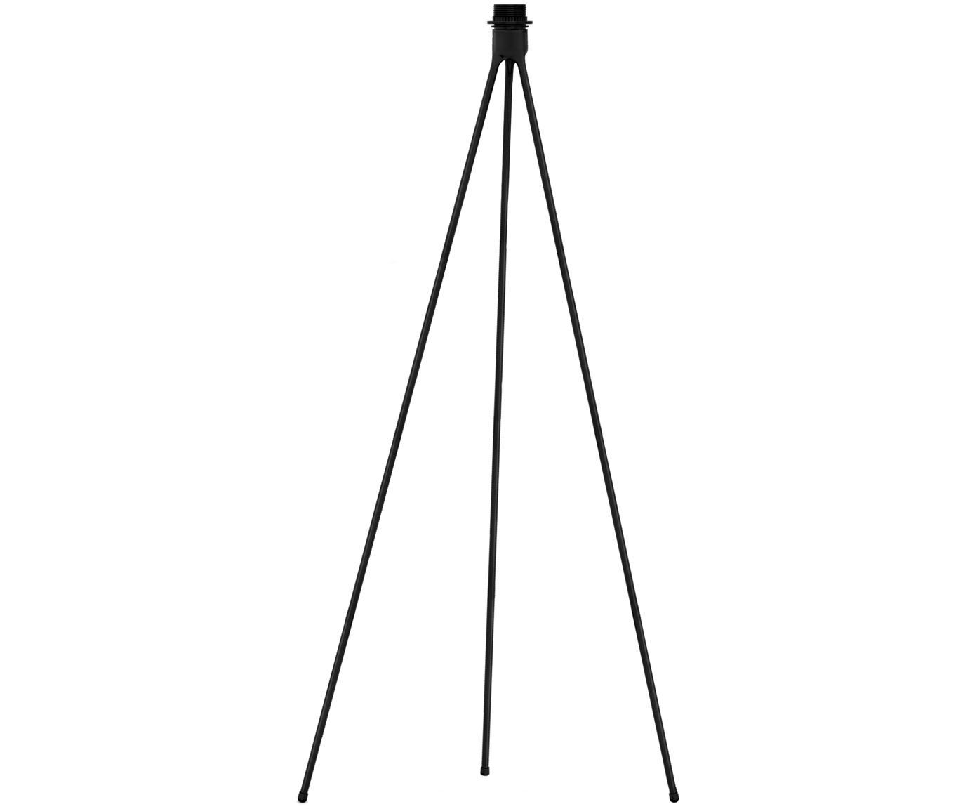 Lampvoet voor vloerlamp Tripod, Lampvoet: gecoat aluminium, Zwart, Ø 50 x H 109 cm